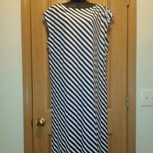 Gap Cap Sleeve Shift Maxi Dress Sz XL EUC!